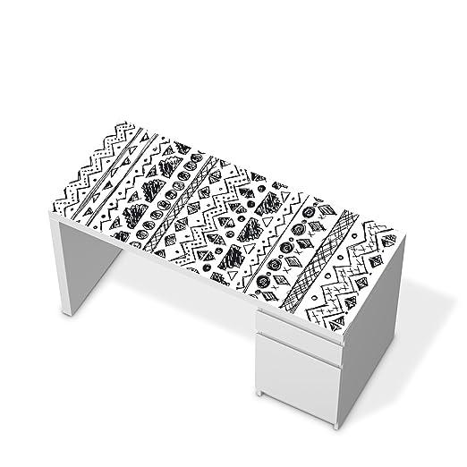 Muebles de pantalla de Ikea Malm escritorio mesa Pegatinas Diseño ...
