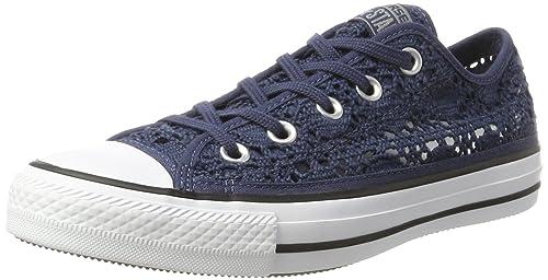 Converse Zapatillas All Star Ox Crochet Azul EU 36.5: Amazon.es: Zapatos y complementos