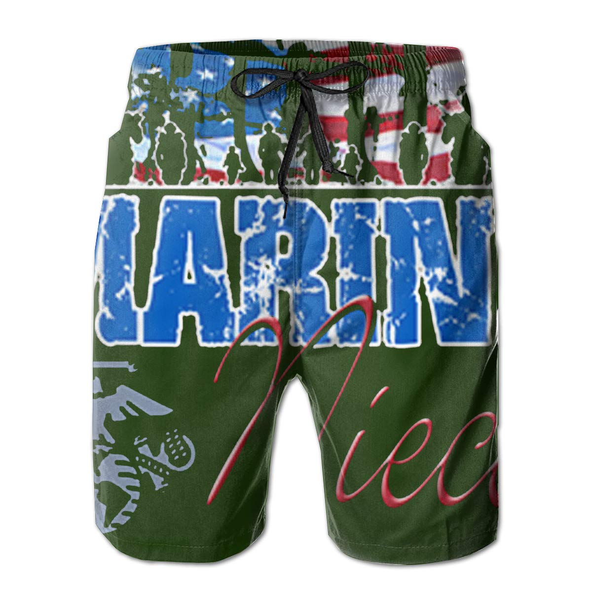 Reality And Ideals Proud Marine Niece Mens Swim Trunks Board Shorts