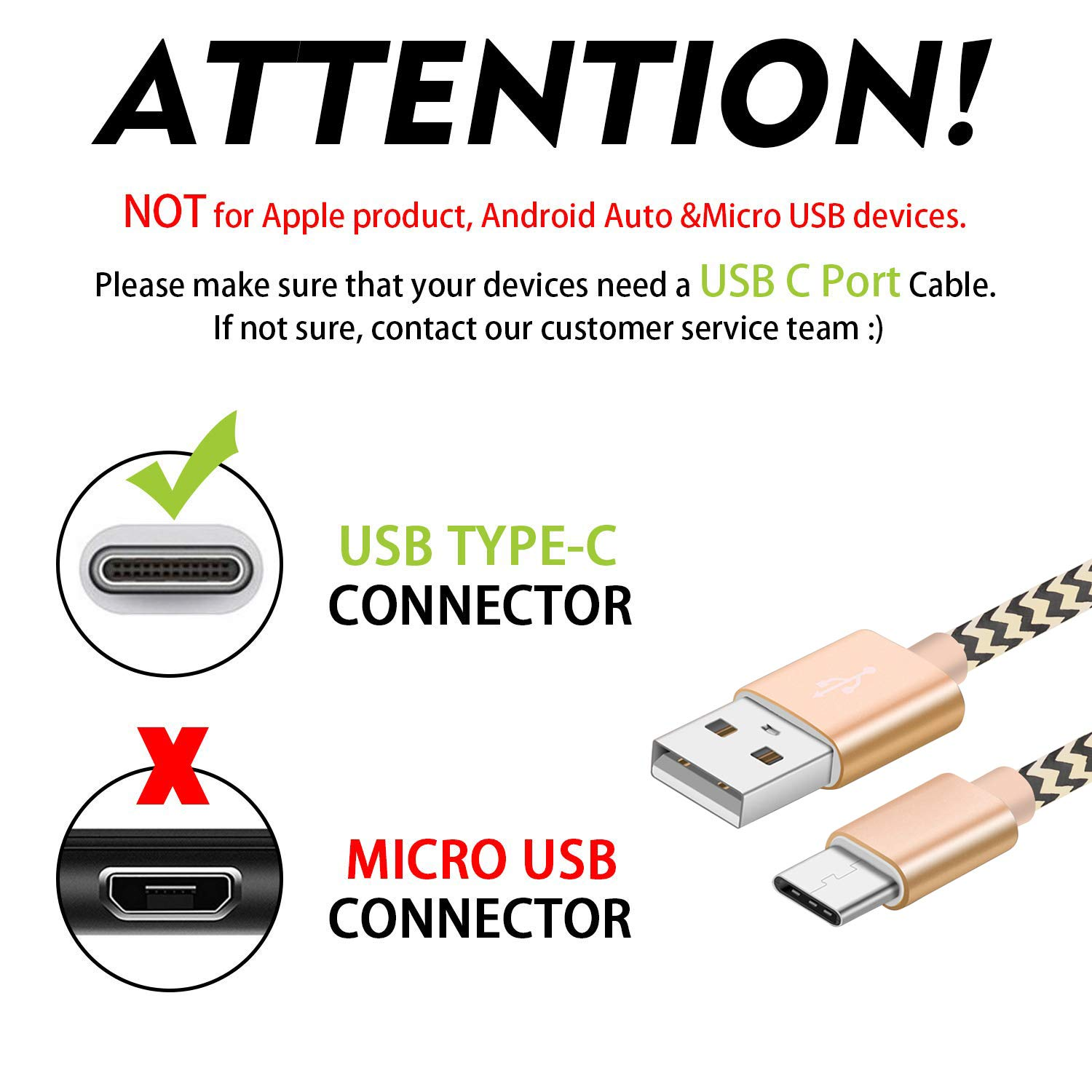 OTISA USB C Cable, 2Pack 6ft USB Type C Cable Fast Charging Charger Cord Long Android Nylon Charge Cable for Galaxy S9 S8 Note 9 8 Pixel Nintendo Switch Huawei Mate P9 P10 Honor LG BLU Moto Gold Grey