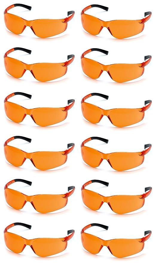0d90bc4256e1 Image Unavailable. Image not available for. Color  Pyramex Ztek Safety  Glasses Orange Lens ...