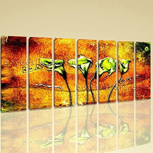 Amazon.com: Extra Large Abstract Acrylic Flower Paintings Floral ...