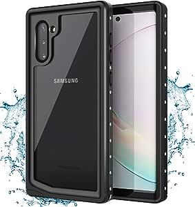 MoKo - Carcasa Impermeable para Samsung Galaxy Note 10 de 6,3 Pulgadas y 2019 (Compatible con Galaxy Note 10, Incluye Protector de visualización Integrado), Color Negro