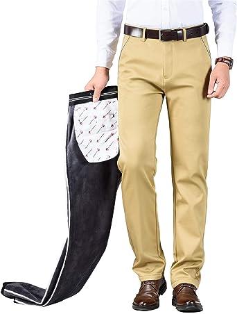 ziilay Pantalones térmicos de invierno para hombre ...