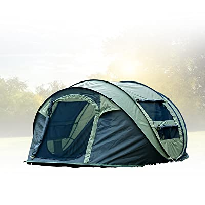 FiveJoy Instant 4-Person Pop Up Dome Tent - Easy, Automatic Setup