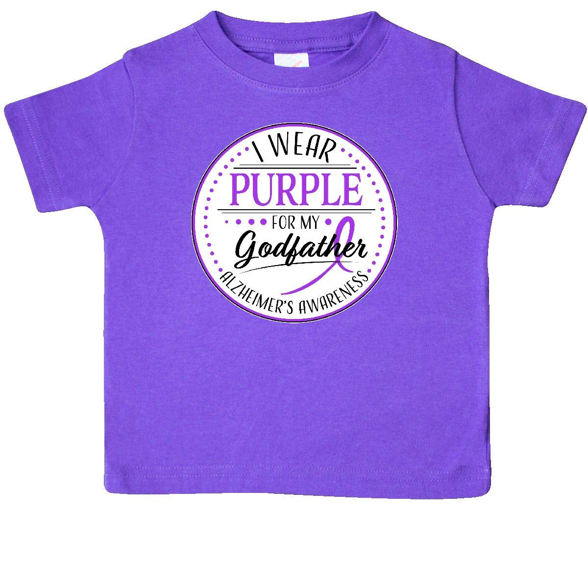 inktastic I Wear Purple for My Godfather Alzheimers Awareness Baby T-Shirt