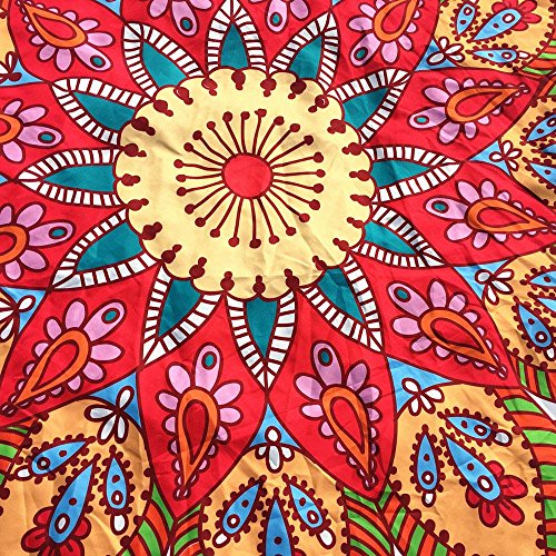 NRUTUP Round Printing Hippie Tapestry Beach Picnic Throw Yoga Mat Towel Blanket Clearance Hot Sales(White,A) by NRUTUP (Image #3)