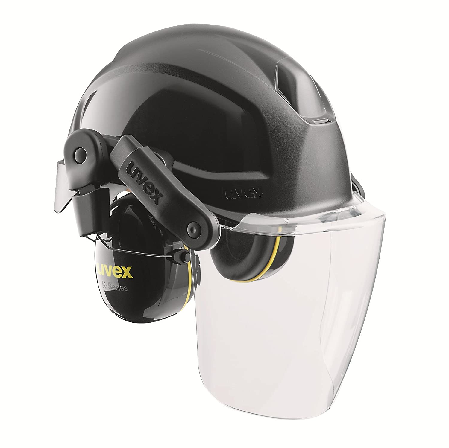 uvex Helmet system pheos consisting of Protection helmet Visor and Hearing protection EN 397 Colour black