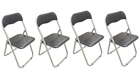 Sedie Pieghevoli Imbottite : Sedie pieghevoli imbottite in metallo per feste scuole uffici