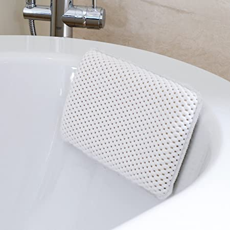 HANKEY Bathtub Pillow, Bath and Spa Head Rest with Suction Cups ...