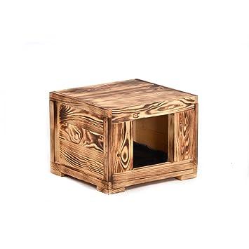 Salón cueva Amadeus 36 x 39 x 30 cm Gato Cueva Caseta Madera Dormir cueva gato cama: Amazon.es: Productos para mascotas
