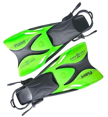 ABC & Blei Aqualung FLAME Junior verstellbare Schwimmflossen für Kinder GR 27-32 und 33-36 Flossen