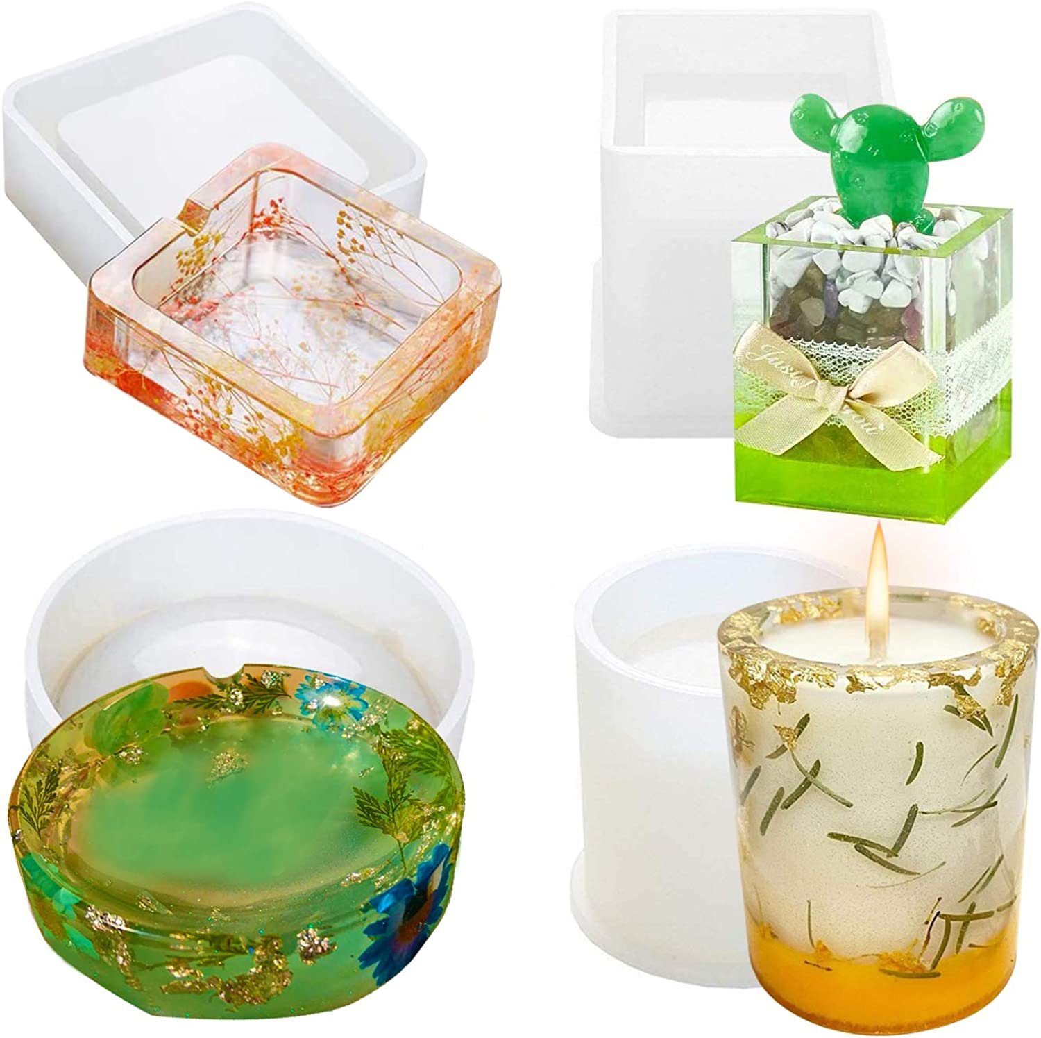 Flower Pot Silicone Resin Mold Dried Flower DIY Craft Soap Candle Cake Mould