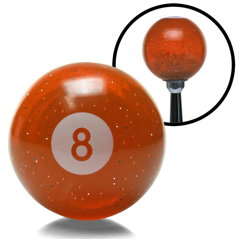 American Shifter 143174 Orange Metal Flake Shift Knob with 1//2-20 Insert 8 Ball