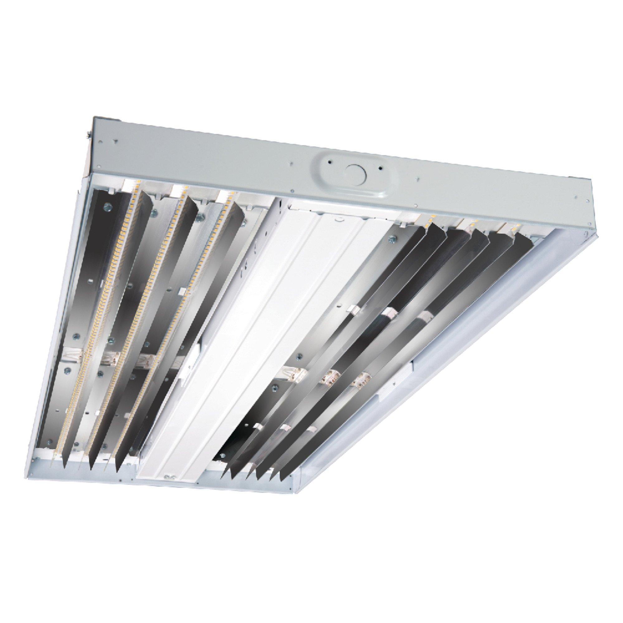 Metalux Hbled-LD5-12SE-W-Unv-L850-ED1-U Hbled 75W Enamel Integrated LED High Bay 5000K Cct with Electronic Fixed Output Driver, White