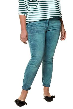 Studio Untold Damen große Größen bis 54, Skinny Jeans-Hose, elastischer  Denim Wasch-Effekte in 5-Pocket-Fit mit Gürtelschlaufen 718388  Studio  Untold  ... 975fe0dcf4
