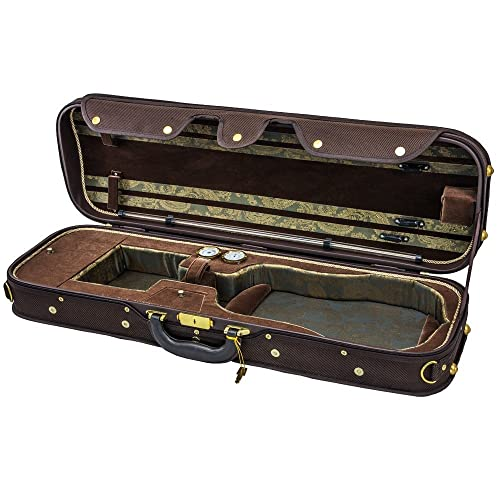 Sky Violin Vncw06 Solid Wood Oblong Case With Hygrometers Coffee/Brown