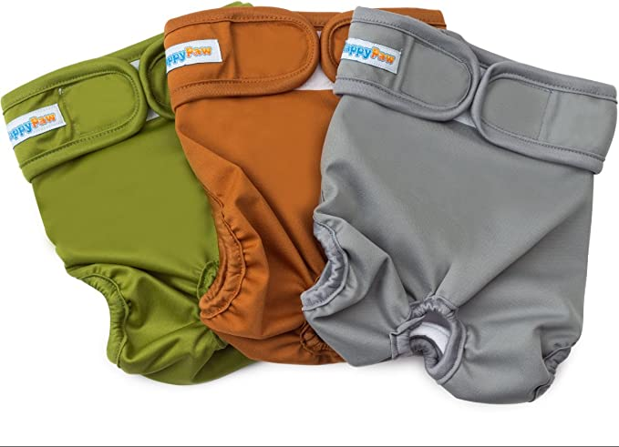 HappyPaw Reusable Washable Dog Diapers