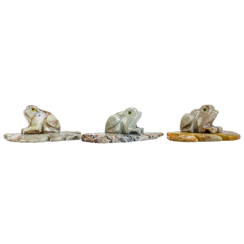 Hipnótico Gems tallada: 30 pcs rana tallada a mano de colección Animal figura decorativa - Beautiful regalos únicos de piedra tallada para, recuerdo de la ...