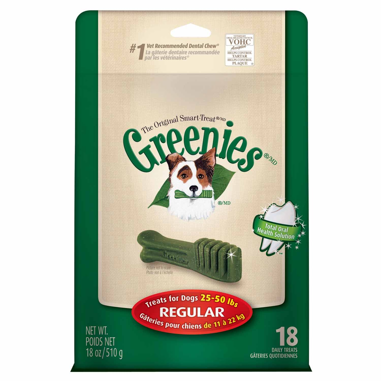 GREENIES Mega Treat-Pak-Regular Dog 18 Oz, Pack of 9