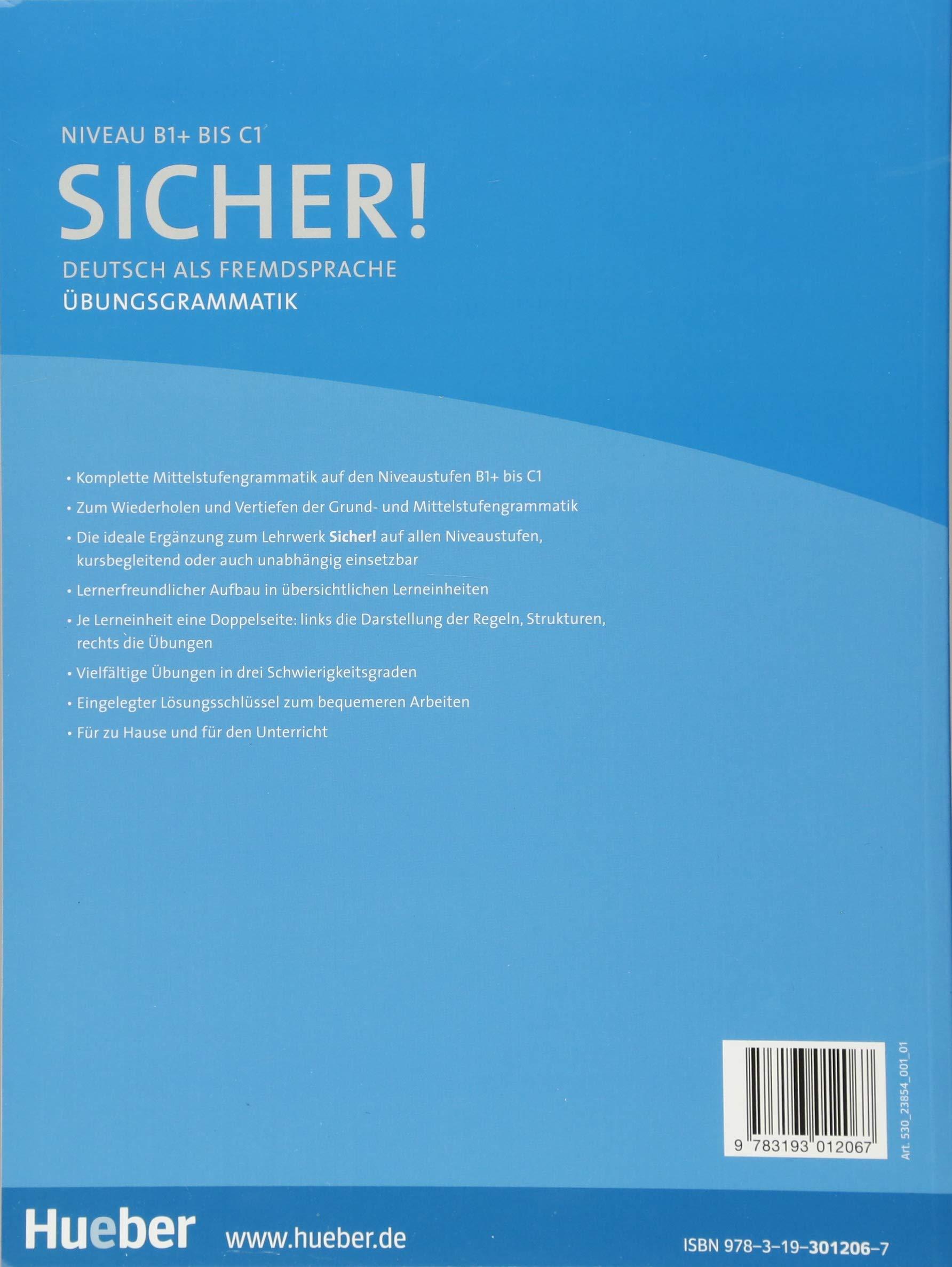 Sicher! Übungsgrammatik: Deutsch als Fremdsprache: Amazon.de: Axel ...
