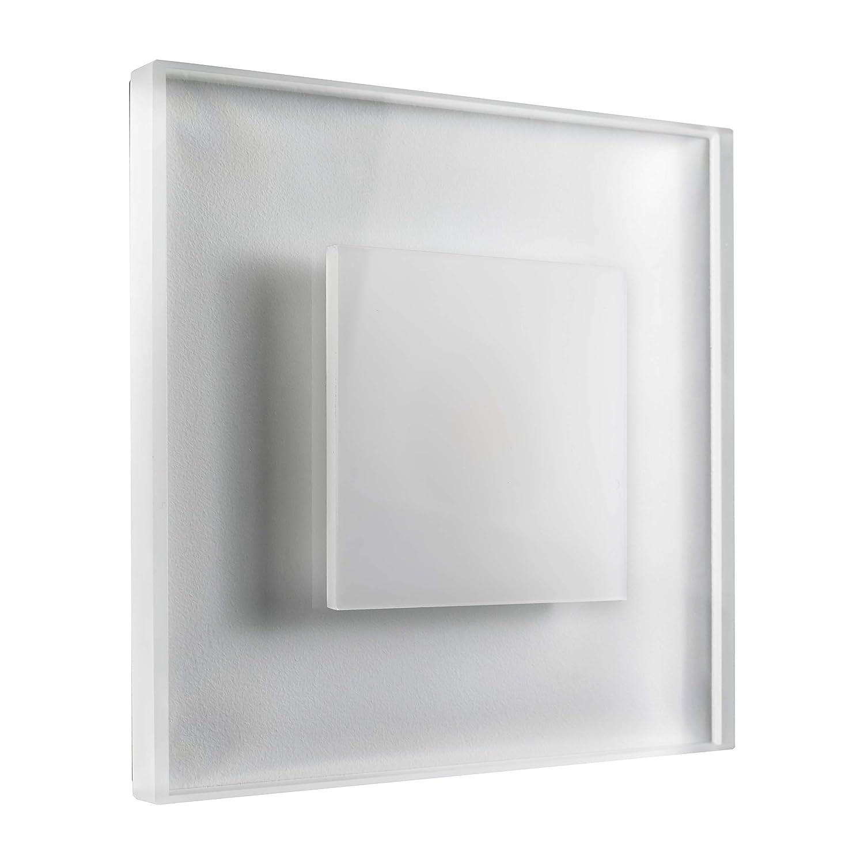 SET LED Treppenbeleuchtung Premium SunLED Max 230V 3W Glas Hochwertig Wandleuchten Treppenlicht mit Unterputzdose Treppen-Stufen-Beleuchtung Wandeinbauleuchte (Kaltweiß, 5er Set)