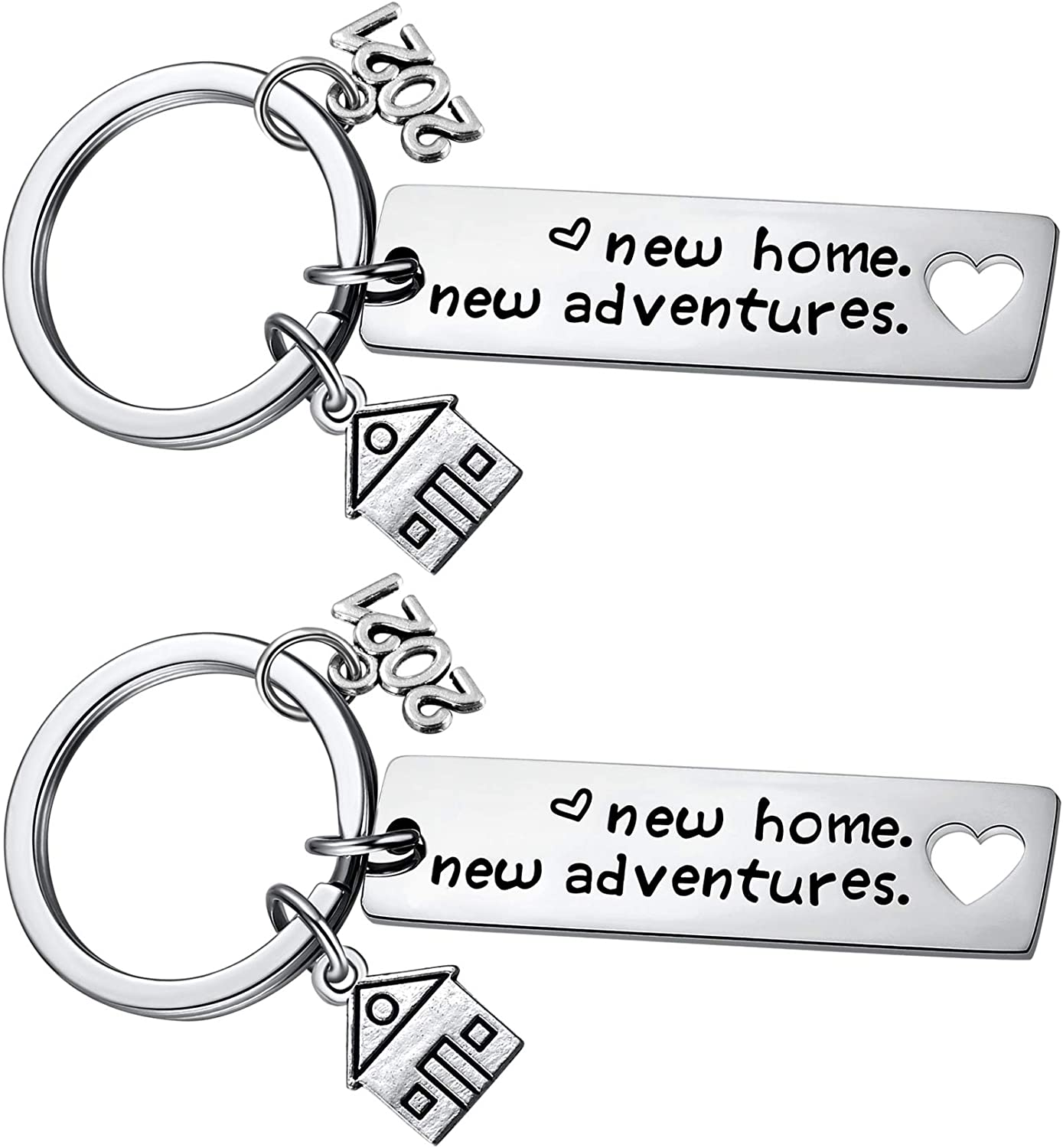 New Home Keychain 2021 Housewarming Gift for New Homeowner House...