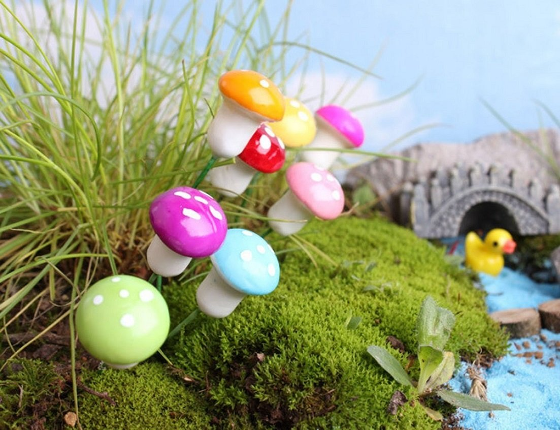 Decorazione Vasi Da Giardino : Zhichengbosi confezione da mini foam funghi decorazione da