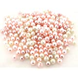 """Beads Direct USA's Glass Pearls Mix 200pcs 6mm - """"Barely Pink"""" Mix"""