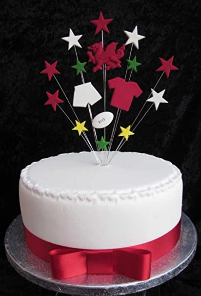 Welsh Rugby Birthday Cake Topper Suitable For A 20cm