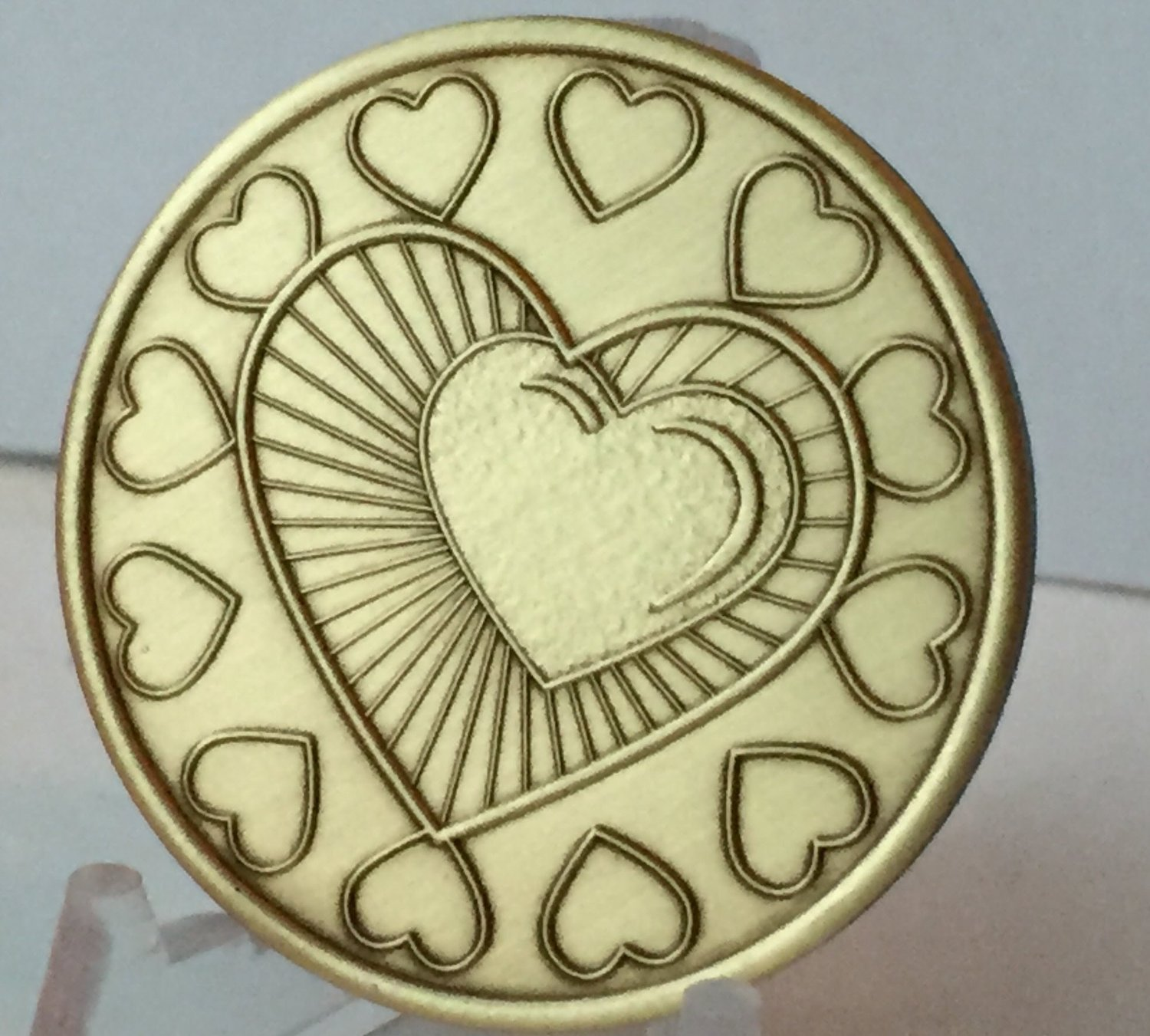 My Heart Is In Recovery Bulk Lot of 25 Medallions Bronze One Day At A Time Chips by wendells (Image #2)