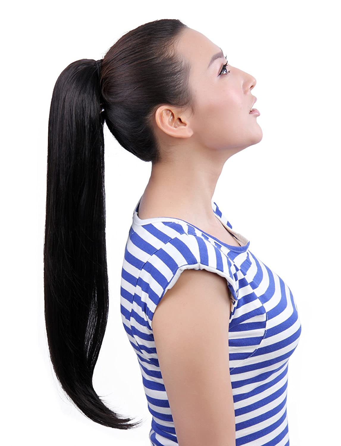 Amazon.com : MAYSU 22 Inch Clip-in Ponytails Hair Extensions Clip ...