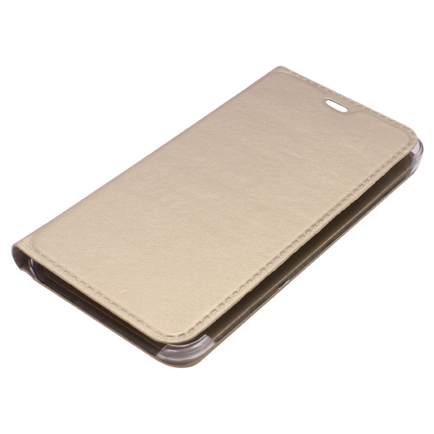 johra leather flip cover case for samsung galaxy j7 prime gold