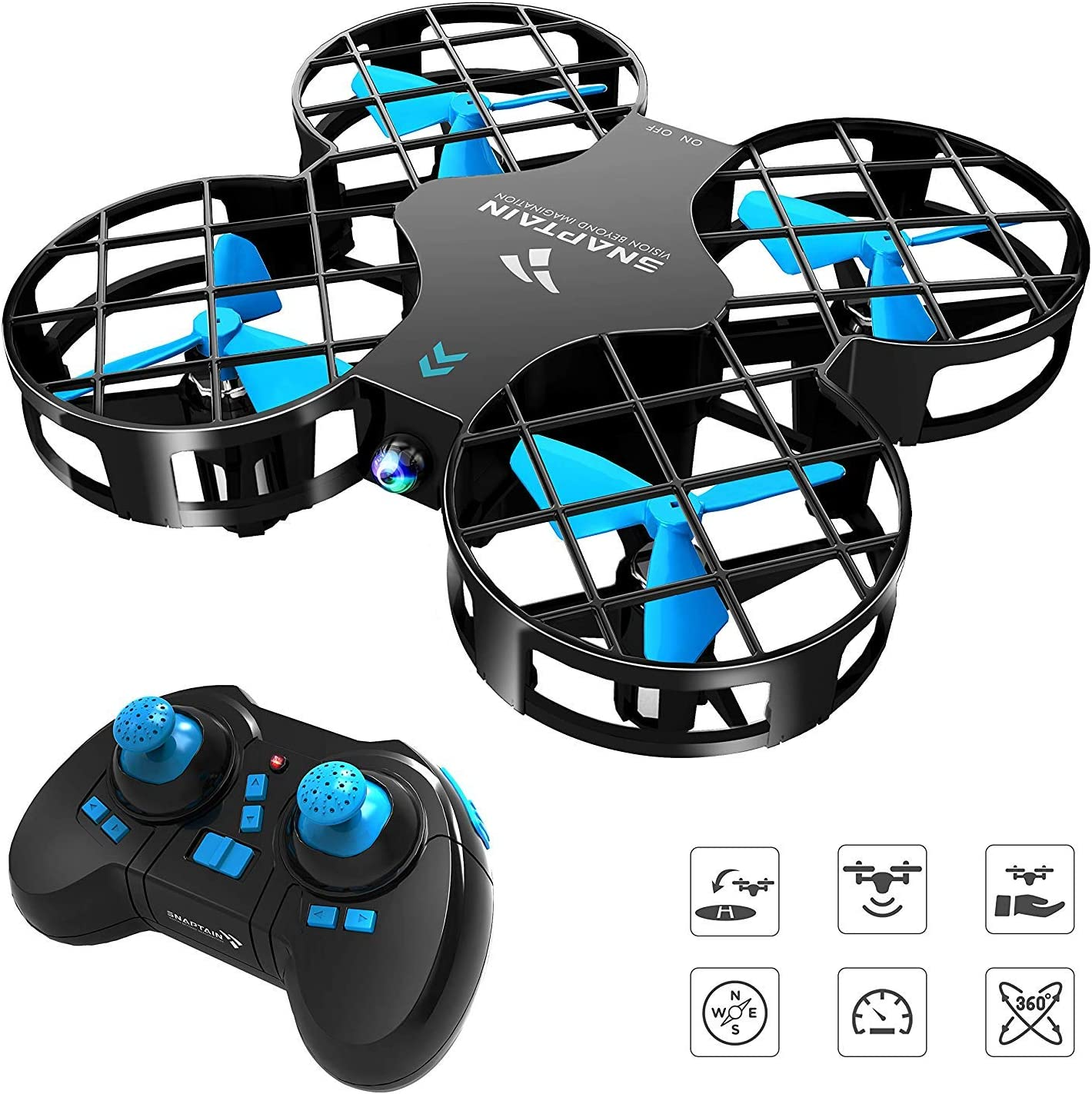 SNAPTAIN H823H Mini Drone for Kids, RC Nano Quadcopter w/Altitude Hold, Headless Mode, 3D Flips, One Key Return and Speed Adjustment: Toys & Games