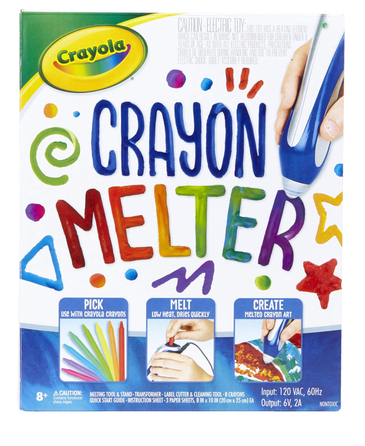 Crayola Crayon Melter, Crayon Melting Art, Gift for Kids, Ages 8, 9, 10, 11