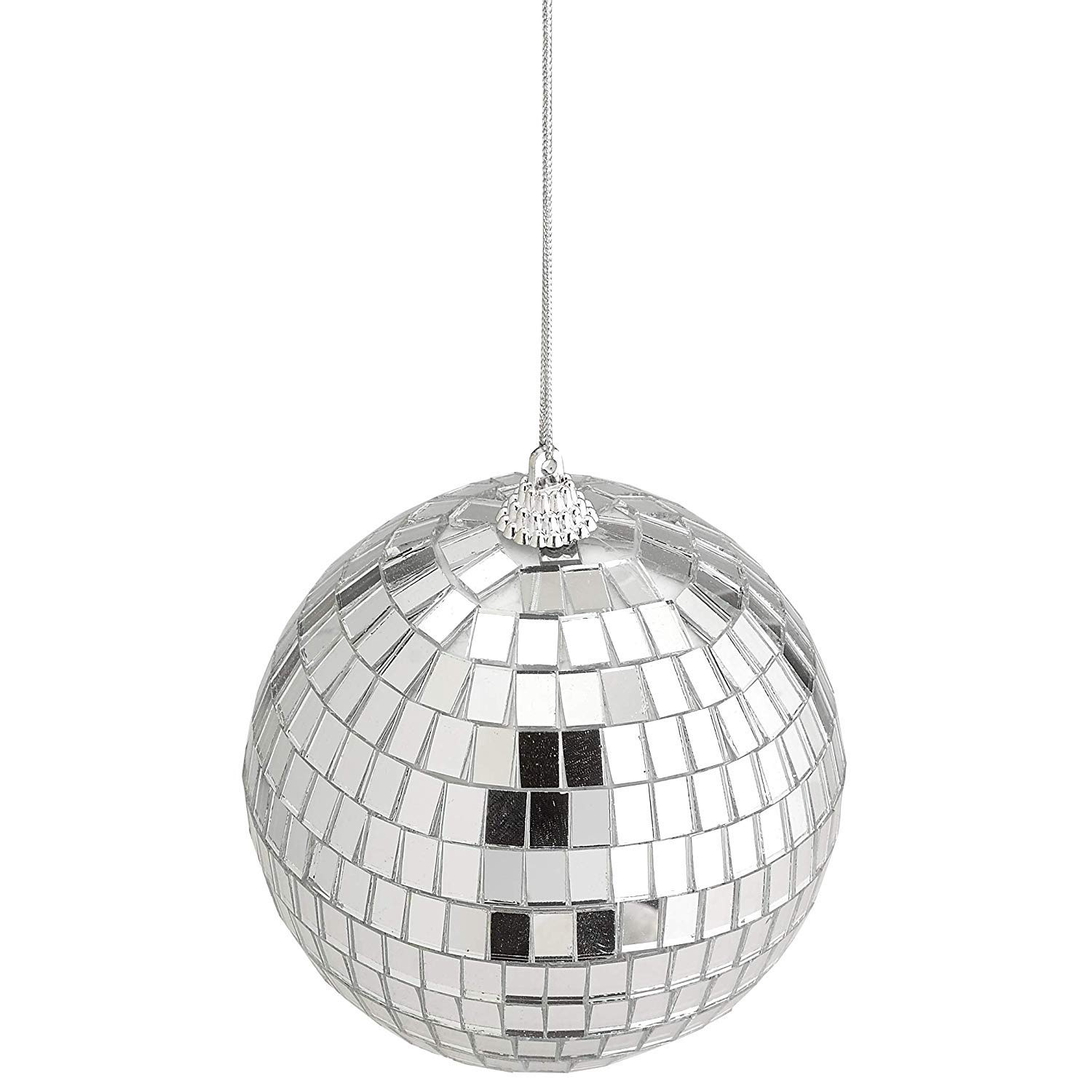 4'' Mirror Disco Lights - Silver Hanging Ball - Perfect for Home Decorations, Stage Props, Game Accessories, School Festivals, Party Favor and Supplies by Kidsco (Image #7)