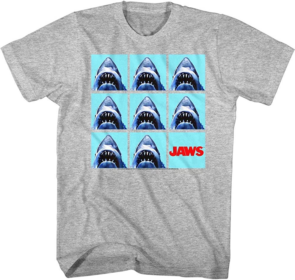 Jaws Undefeatable Adult T-Shirt Tee Gray