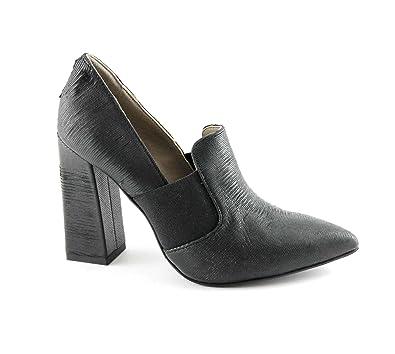 CAF MA442 Noir Chaussures Noires Femme dcollet Pointe élastique Gros Talon  36  Amazon.fr  Chaussures et Sacs 59fd6bf08c04