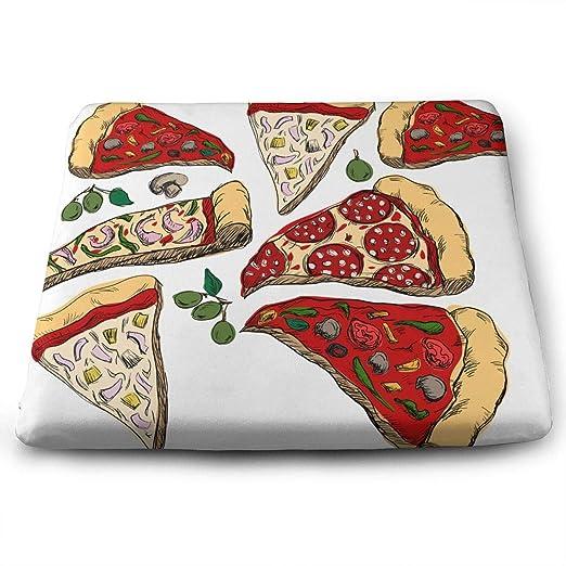 HUIH Almohadillas para Silla de Pizza pintadas a Mano, cojín ...