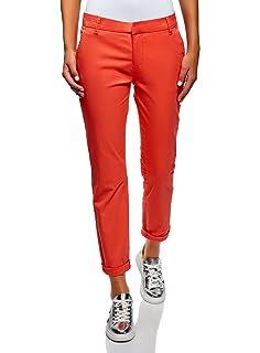 e0d8f27f1a oodji Ultra Donna Pantaloni Chino con Cintura: Amazon.it: Abbigliamento