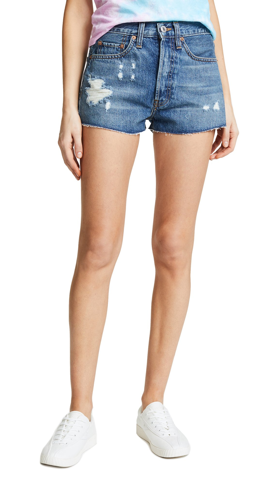 RE/DONE Women's The Shorts, Holey, 29