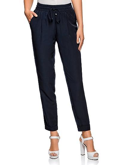 90ddbb4de534 oodji Collection Femme Pantalon Léger en Tissu Fluide  Amazon.fr ...