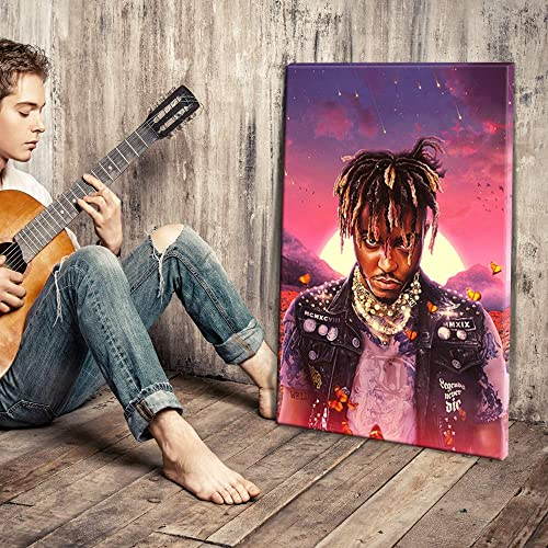 IXMAH Juice Wrld Wall Art Canvas Prints Legends Never Die Album Cover Art Poster Painting