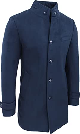 Evoga Abrigo de hombre Class Sartorial elegante chaqueta de invierno de lana