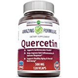 Amazing Formulas - Quercetin 500 Mg, 120 VCaps(Vegetarian Capsules) (Non-GMO,Gluten Free, Vegan) * Supports Cardiovascular He