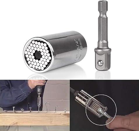 7-19mm pièces Set Vis Bit Perceuse Adaptateur Gator Grip universel clé à douille