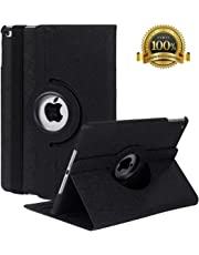 "New iPad 9.7 inch 2018 2017/ iPad Air Case - 360 Degree Rotating Stand Smart Cover Case with Auto Sleep Wake for Apple iPad 9.7"" (6th Gen, 5th Gen)/iPad Air (Black)"