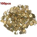 Colgadores triangulares para cuadros (100 unidades, tornillos incluidos)
