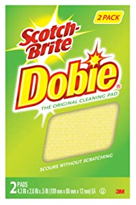 Scotch-Brite Dobie All Purpose Pads, 2-pads/pk, 6 Pack (12 Pads Total)
