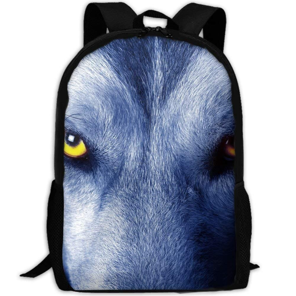 2eb255fdf639 Amazon.com: Backpack Beautiful Eyes Of Wolf Womens Laptop Backpacks ...